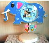 Baby Nursery Elephant Shaped Clock Snoopy Linus